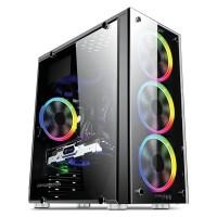 Casing PC Gaming Rakitan Armaggeddon Kagami K5 Full Black Coating ATX