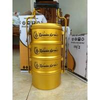 Rantang MAZAYA 4 Susun 16 cm I Rantang Khas Arab Warna Emas