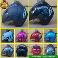 Helm ink Cx22 Jp8 halfface T1 Double Visor Replika terbaru sadam shop