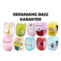 Keranjang Baju Kotor Lipat Motif Karakter / Laundry Basket / Keranjang
