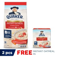 Quaker Instant Oatmeal 600 Gr - Free Instant Oatmeal Box 4 Sachets