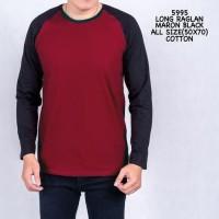 RVV - Kaos lengan panjang | Raglan Baju atasan pria murah