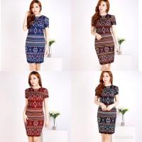 RVV - dress bodycon batik songket wanita | baju dress batik cewek