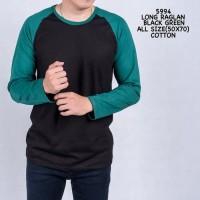 RVV - Kaos lengan panjang cowok | Raglan Baju atasan pria murah