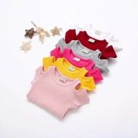 kaos atasan anak perempuan off shoulders/ t-shirt off shoulders 1-4thn