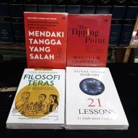 Paket 4 buku filosofi teras tangga salah the tipping point 21 lessons