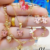 Xuping set perhiasan anak lapis 24k 2x20