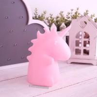 Lampu Meja Kamar Anak Dekorasi Pajangan Interior Rumah Unicorn Pink