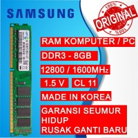 RAM PC DDR3 8GB PC 12800/1600 MHz LONGDIMM PC/KOMPUTER SAMSUNG