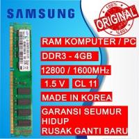 RAM PC DDR3 4GB PC 12800/1600 MHz LONGDIMM PC/KOMPUTER SAMSUNG