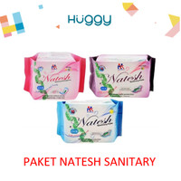 Paket Natesh Pembalut Herbal Pantyliner Day & Night Original