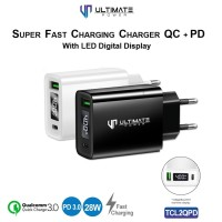 Ultimate Power Super Fast Charging Charger 28W QC+ PD With LED Display