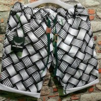 celana pendek katun printing impor ready