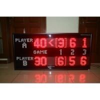 Papan skor Tenis Lapangan / Scoreboard Tennis / Skoring Board Tenis