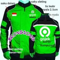 jaket gojek logo baru - Hijau, M