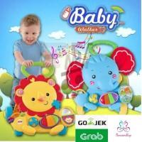 baby Walker Push Walker karakter Animal dengan Music dan Mainan