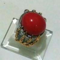 Batu cincin Ajaib menyala di dalam air FOSFOR MERAH DELIMA RED MARJAN