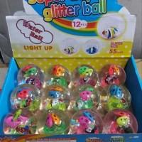 Super duper glitter ball water ball bola bekel air TIDAK NYALA 55mm