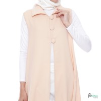 Outerwear Wanita Original | Button Vest Cream | Outer Muslim Polos |