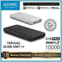 Power Bank 10000mah ACMIC C10pro quick charger 3.0+PD power delivery