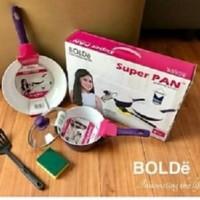 Super Pan Purple Panci Set Keramik Bolde Tebal Unmatched