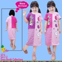 Dress Kaos anak Perempuan Little Pineapple Daster LOL Surprise Pink