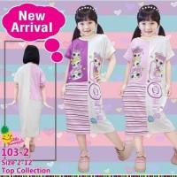Dress Kaos anak Perempuan Little Pineapple Daster LOL Surprise 103-2