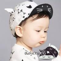 Totocat Star Hat BW Topi Anak Bayi Lucu Bintang Kucing