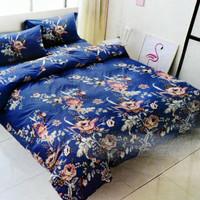 Krishome Selimut Bed Cover Microtex Printing - Biru 150 x 210 cm