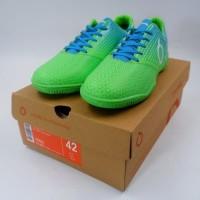 Sepatu Futsal OrtusEight Genesis Fluor Green Cyan White 11020048