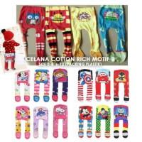 Celana Legging Bayi Anak Polos Motif Bahan Lembut Nyaman DA C21