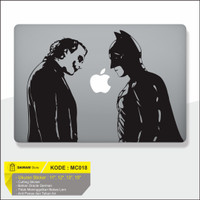 Decal Sticker Macbook Batman vs Joker