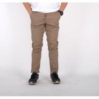 celana chino panjang pria brown skinny / celana panjang chino cowok - XL