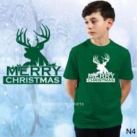 GRATIS NAMA / KAOS NATAL / MERRY CHRISTMAS NEW banyak pilihan warna.