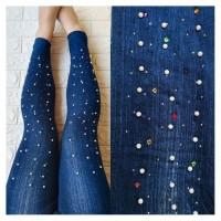 Legging 6909 Jeans Panjang Celana Stretch Motek Pearl