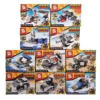 Lego Battle Royale 2 in 1 Tank Mobil Pesawat Kapal Tentara Army Perang
