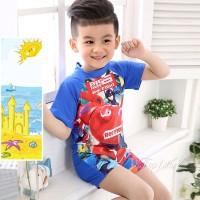 Baju Renang Model Siamese untuk Anak Laki Laki