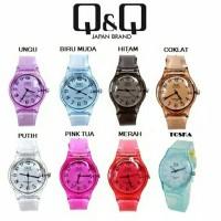 Jam tangan Q&Q QQ Rubber Transparant Murah Unisex Cewek Cowok