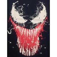 Kaos Tshirt Venom Baju Big Size XL-XXXL Superhero Cowok Rhymes Import - Biru, M