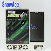 OPPO F7 Tempered Glass Privacy Anti Spy Full Cover Anti Gores Kaca