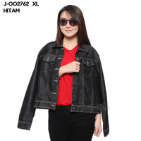 Baju Jaket Denim Stretch XL Jumbo Tangan Panjang Murah Wanita J-002762