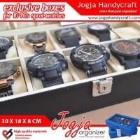 Exclusive Large Size Watch Box With Lock Kotak Tempat Jam Tangan