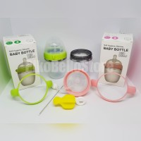 PIKO BELLO 180ML SILICONE BOTTLE SINGLE PACK PINK / GREEN