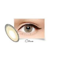 X2 Glam Citrine normal minus s/d -3.00 coklat 15 mm - Softlens