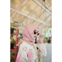 JBB-149 Jilbab Hijab Kerudung Organza Silk PREMIUM - Hijau