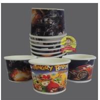 Cup Es Krim/Papercup Es Krim/Gelas Kertas 2 Oz GRATIS Sendok Es Kayu