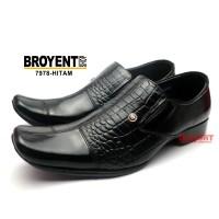 Sepatu Kerja Kantor Pantofel Pria Kulit Sapi Kombinasi Motif Buaya7978