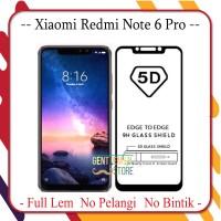 BERGARANSI PREMIUM Tempered Glass 5D Xiaomi Redmi Note 6 Pro Full Laya