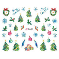 Christmas Ultra Thin Nail Sticker Stiker Kuku E879