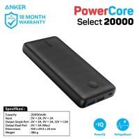 PowerBank Anker PowerCore Select 20000 mAh Black - A1363